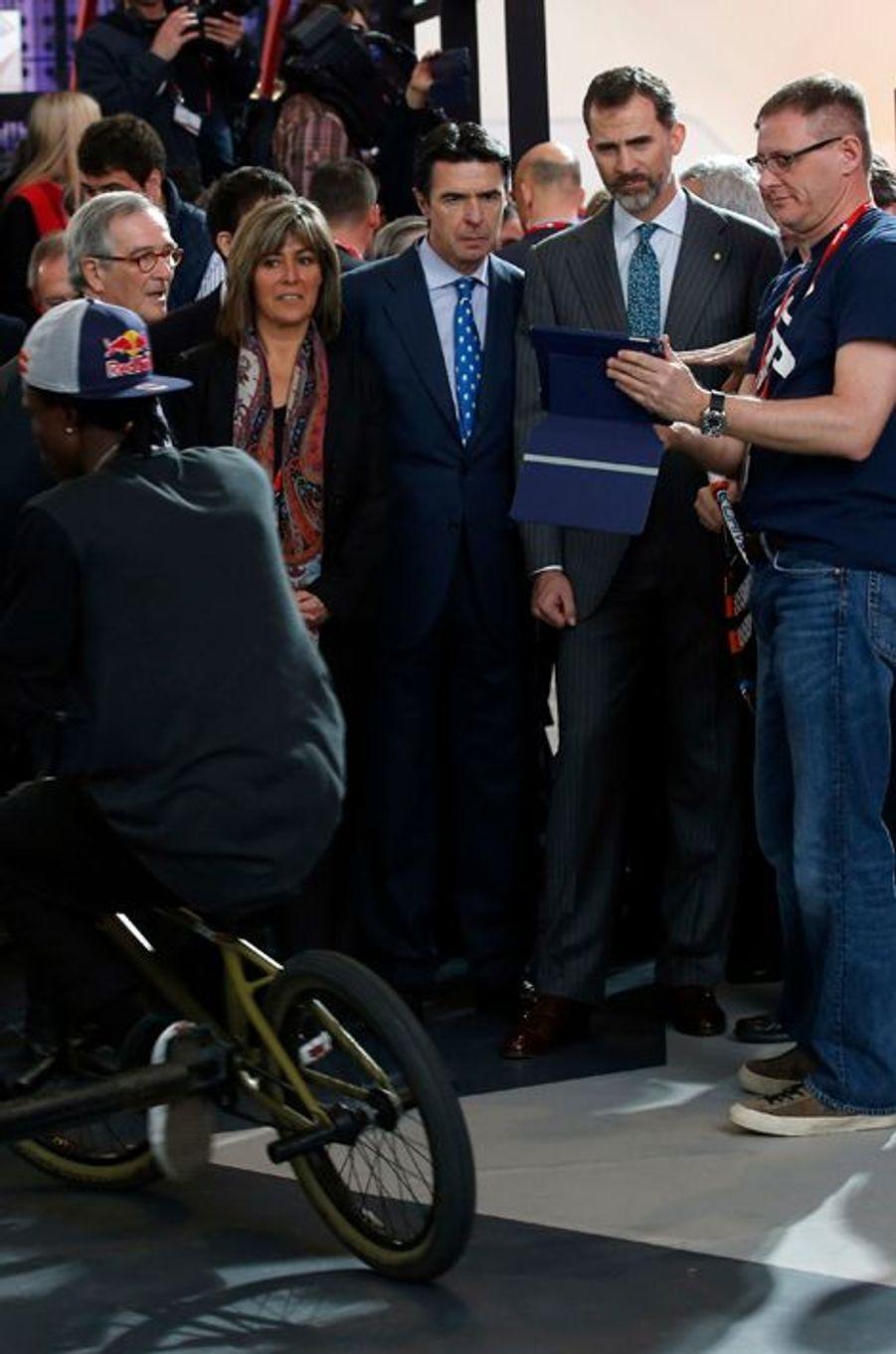 Le roi Felipe d'Espagne inaugure le GSMA Mobile World Congress 2015 à Barcelone, le 2 mars 2015