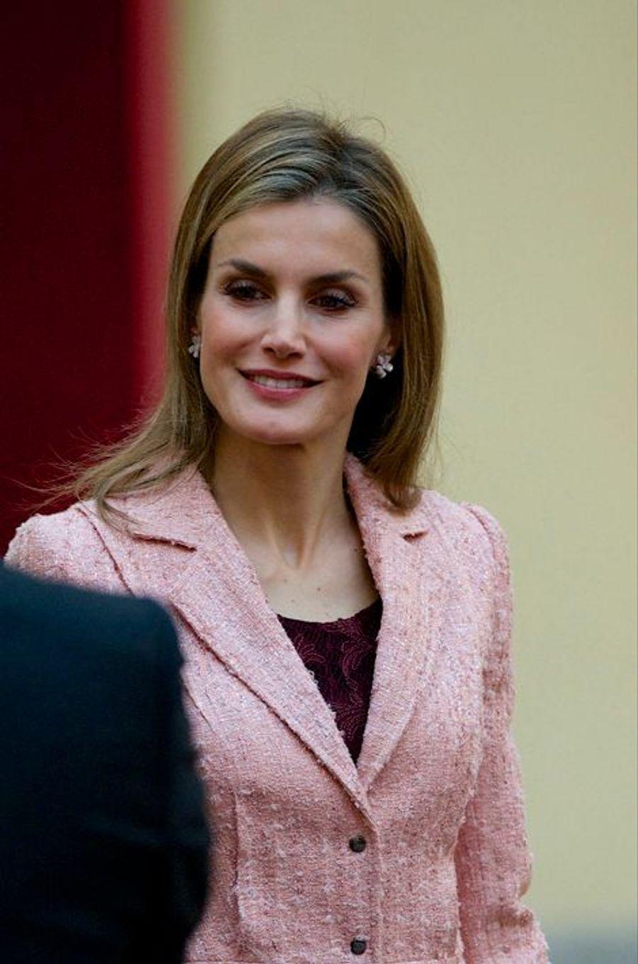 La reine Letizia d'Espagne à la réunion annuelle du Conseil de l'Institut Cervantes, le 9 octobre