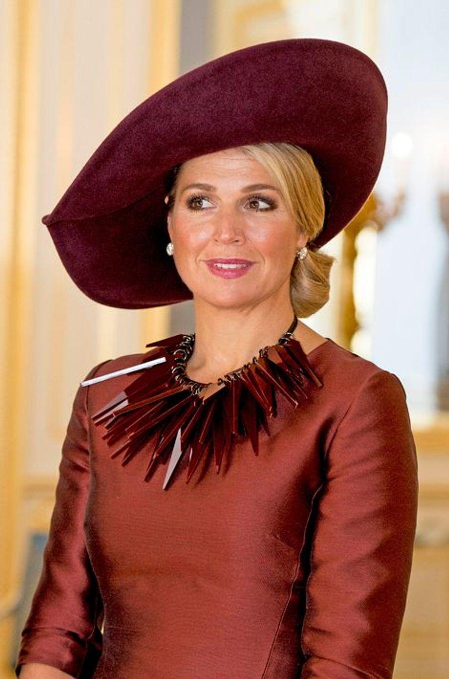 La reine Maxima des Pays-Bas à La Haye, le 15 octobre 2014