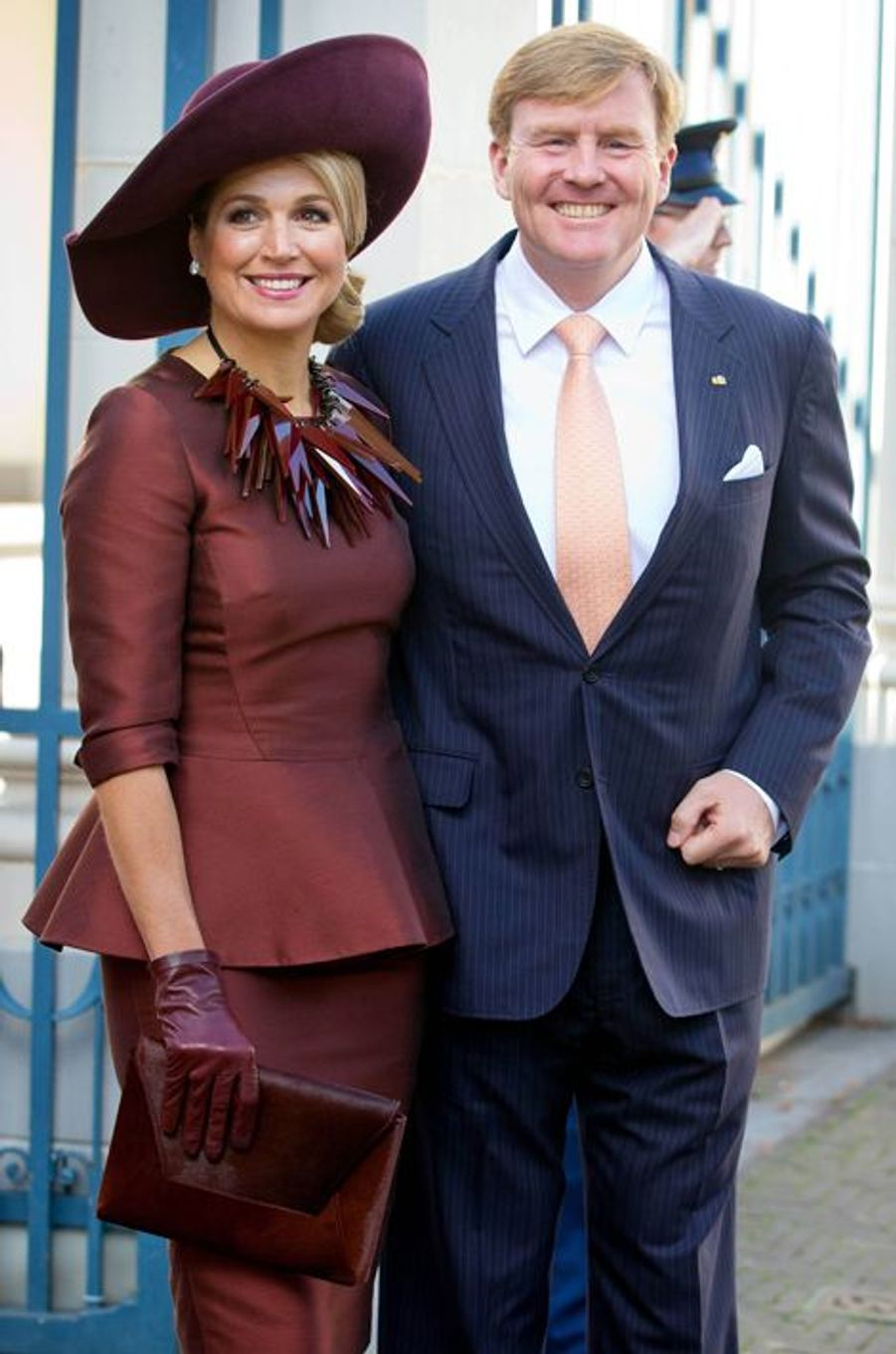 Le roi Willem-Alexander des Pays-Bas et la reine Maxima, le 15 octobre 2014
