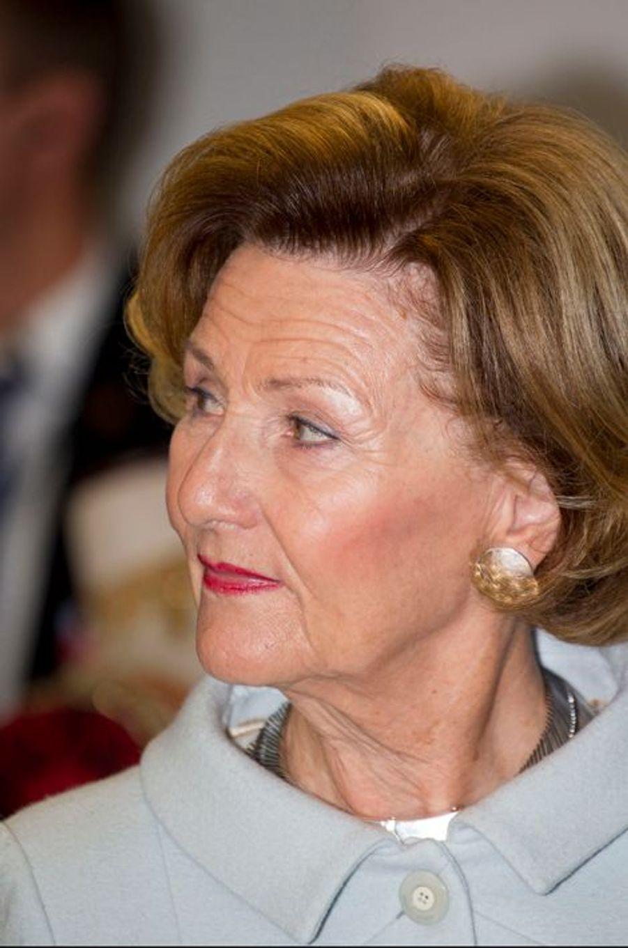 La reine Sonja de Norvège à Oslo le 14 octobre 2014