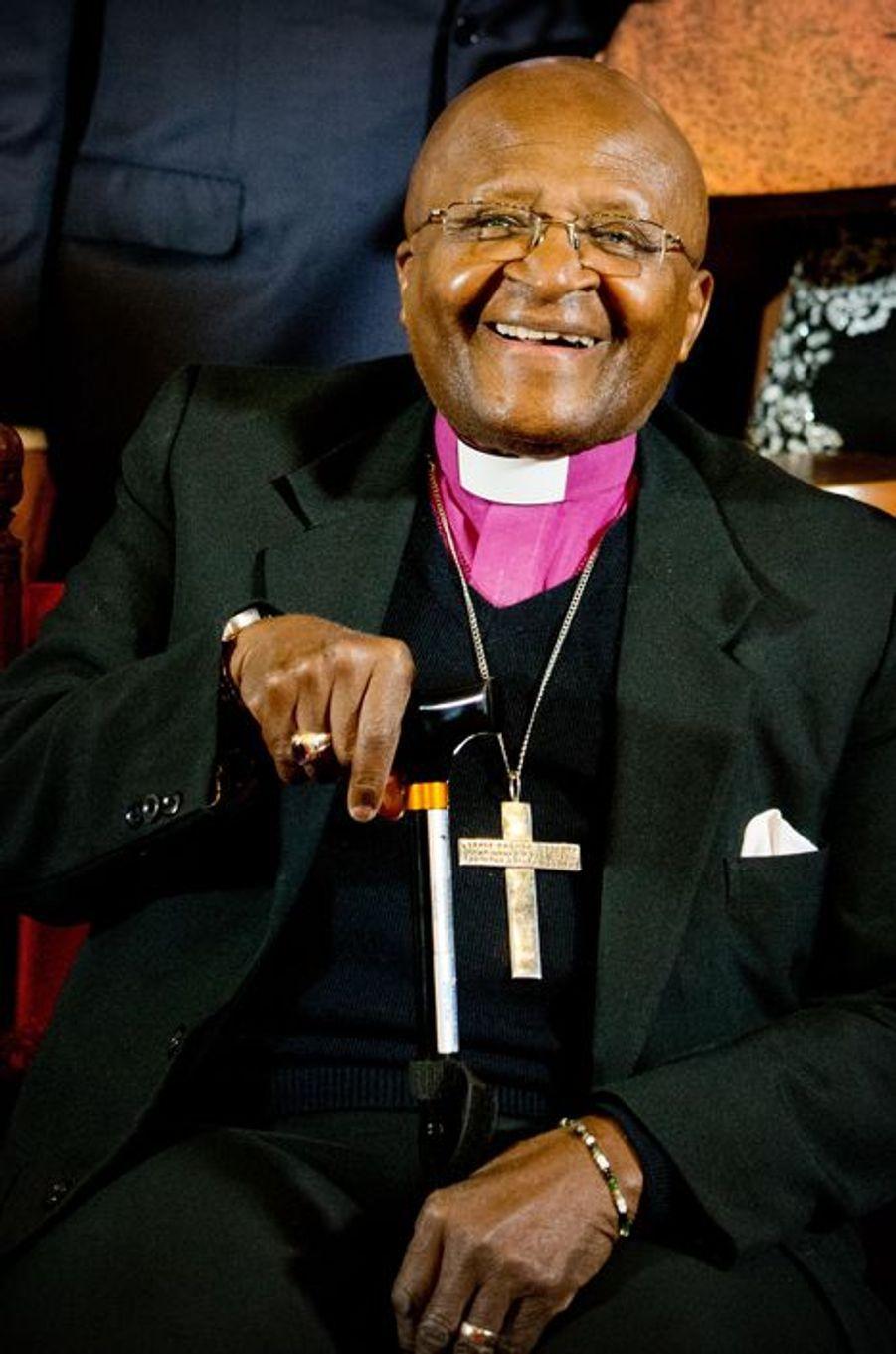 Desmond Tutu à La Haye, le 18 octobre 2014