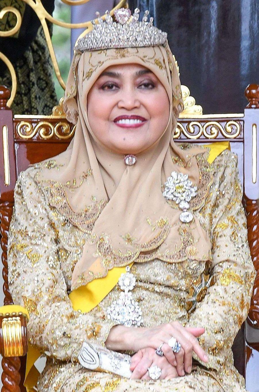 La reine Anak Hajah Saleha à Bandar Seri Begawan le 5 octobre 2017
