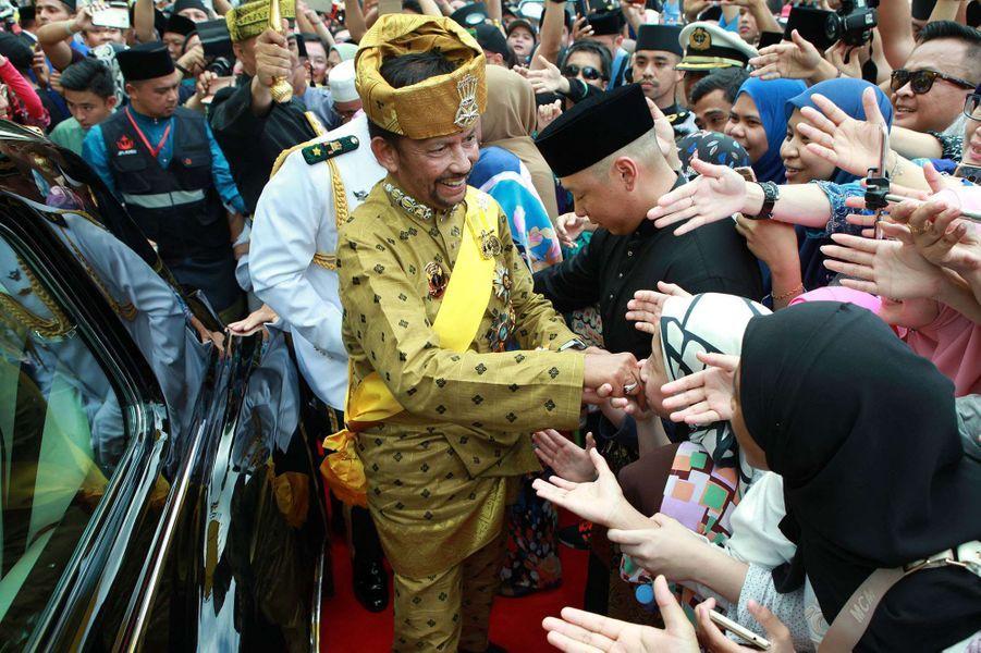 Le sultan de Brunei Hassanal Bolkiah à Bandar Seri Begawan le 5 octobre 2017