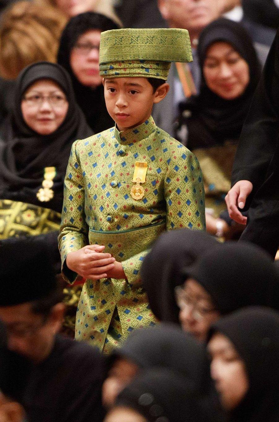 Abdul Muntaqim, petit-fils du sultan de Brunei Hassanal Bolkiah à Bandar Seri Begawan le 5 octobre 2017