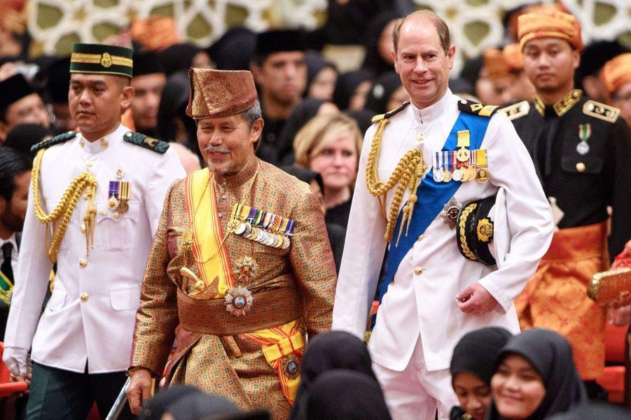 Le prince Edward d'Angleterre au Sultanat de Brunei, le 5 octobre 2017