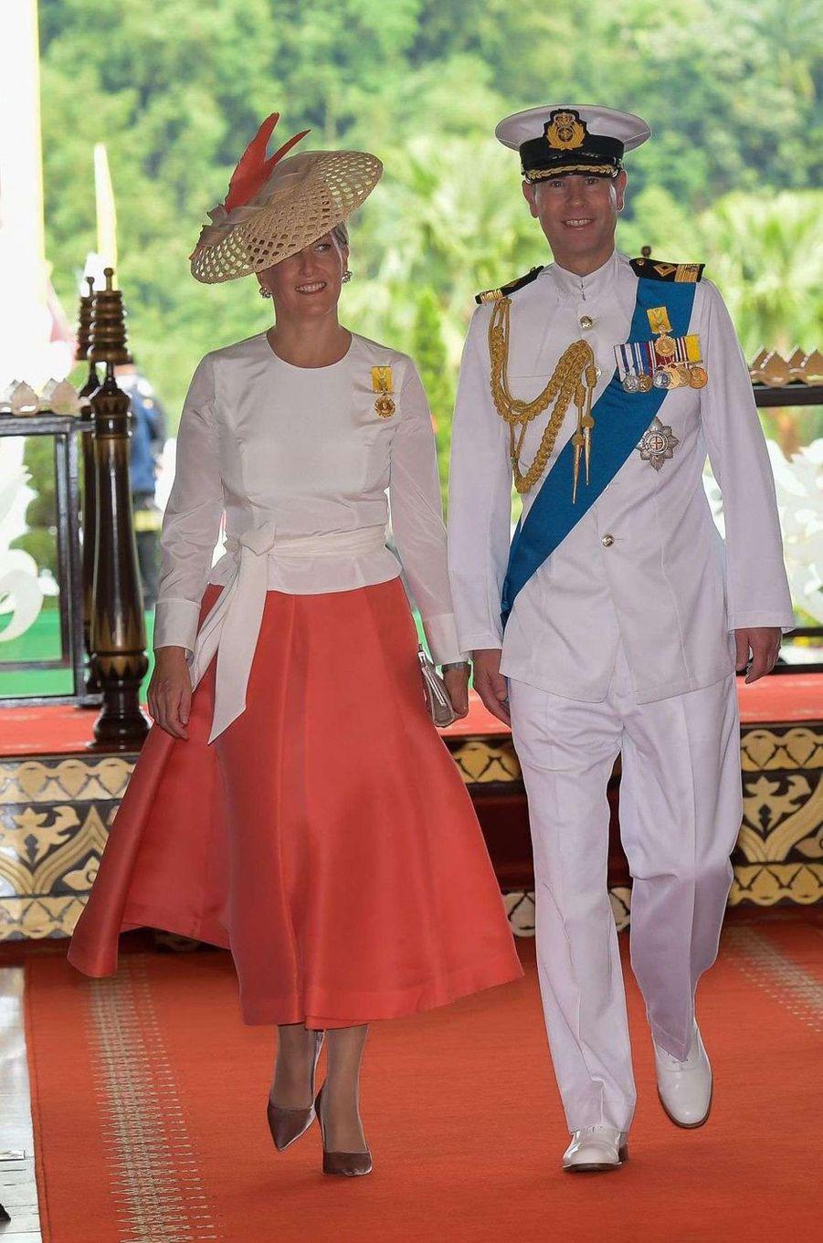 La comtesse Sophie de Wessex et le prince Edward d'Angleterre au Sultanat de Brunei, le 5 octobre 2017
