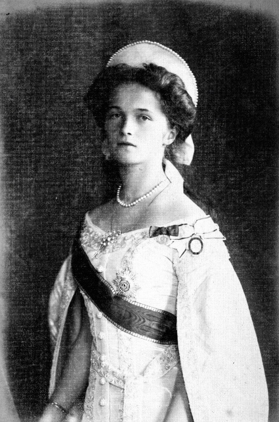 La grande-duchesse Olga de Russie. Photo non datée