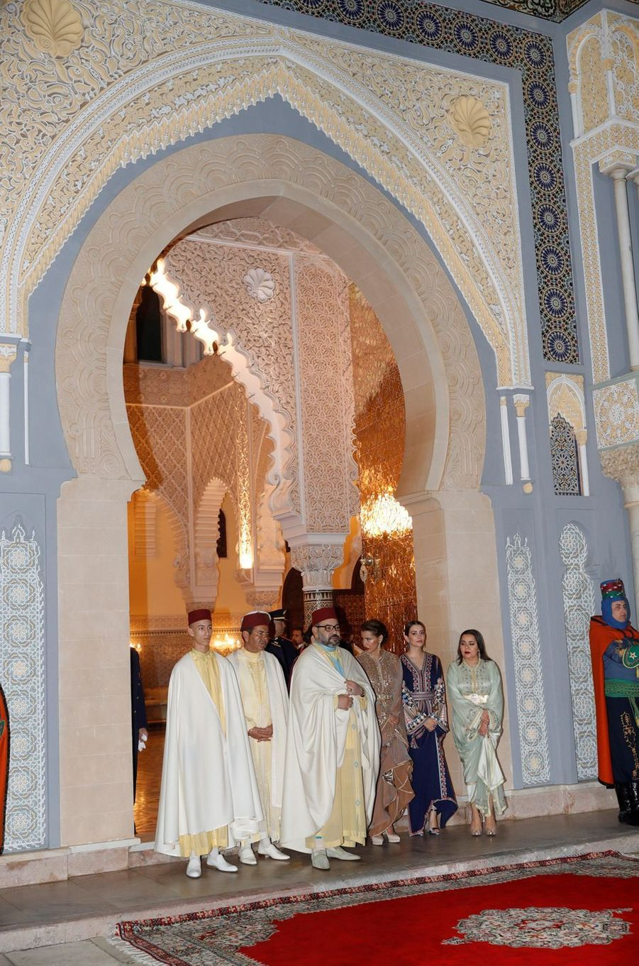 Le prince Moulay El Hassan du Maroc avec la famille royale marocaine, à Rabat le 13 février 2019