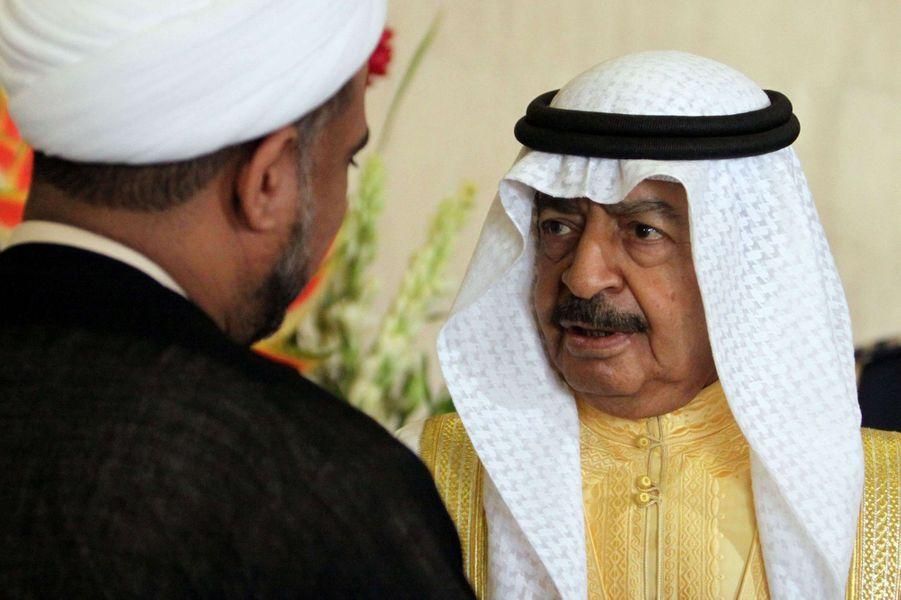 Le prince Khalifa ben Salmane Al-Khalifa de Bahreïn, le 21 décembre 2010