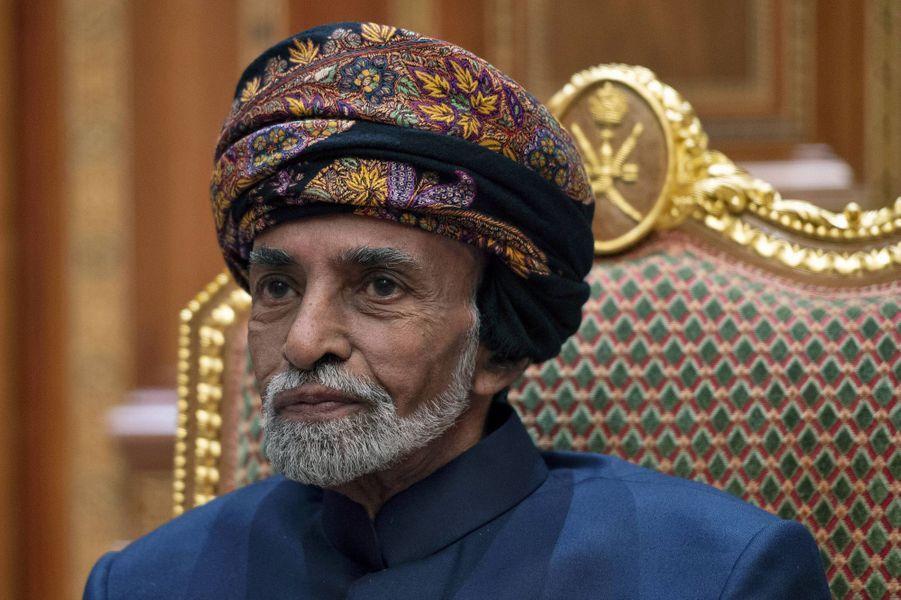 Le sultan Qaboos d'Oman, le 14 janvier 2019