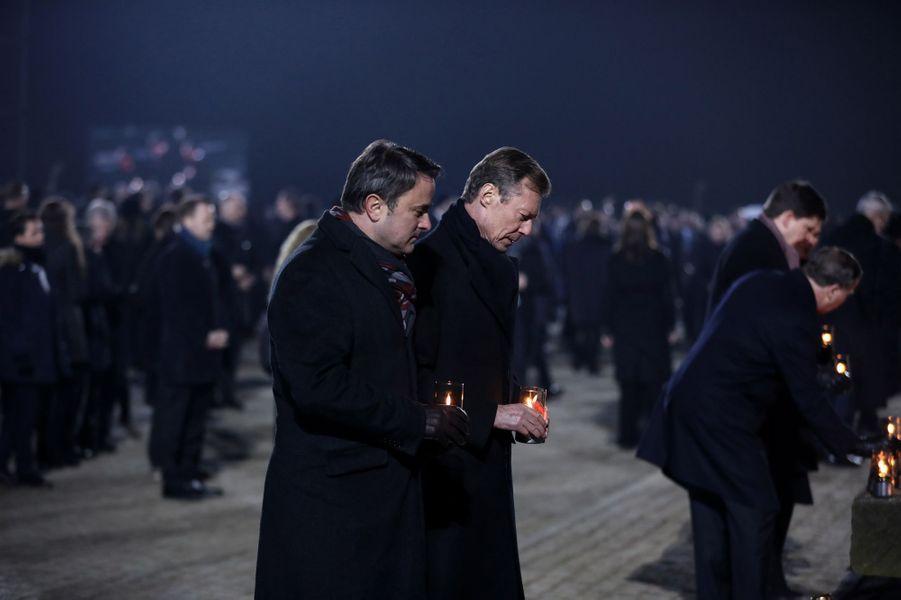 Le grand-duc Henri de Luxembourg et le Premier ministre luxembourgeois à Auschwitz-Birkenau, le 27 janvier 2020