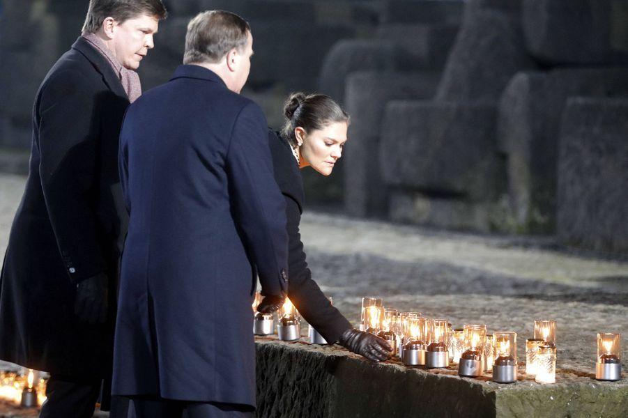 La princesse héritière Victoria de Suède à Auschwitz-Birkenau, le 27 janvier 2020