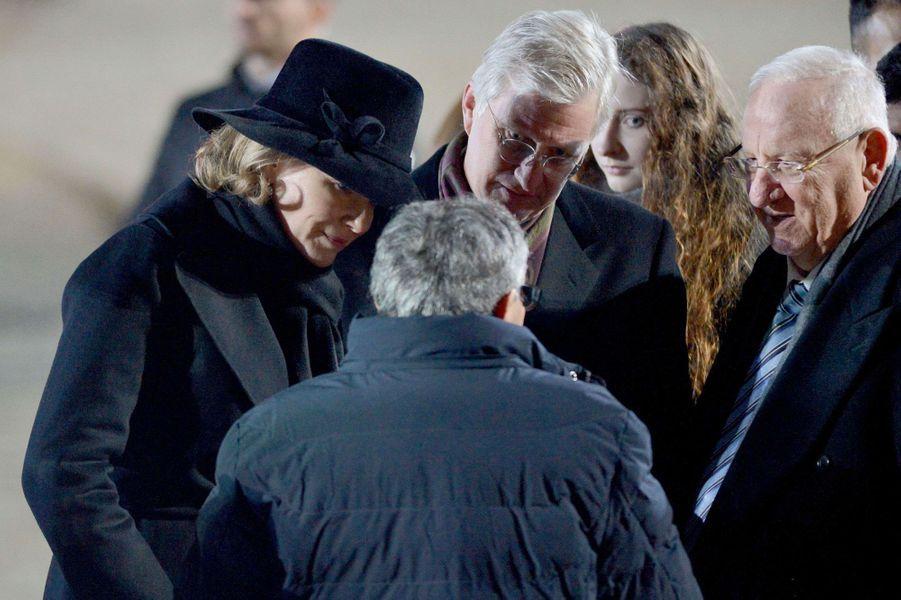 La reine Mathilde et le roi des Belges Philippe à Auschwitz-Birkenau, le 27 janvier 2020