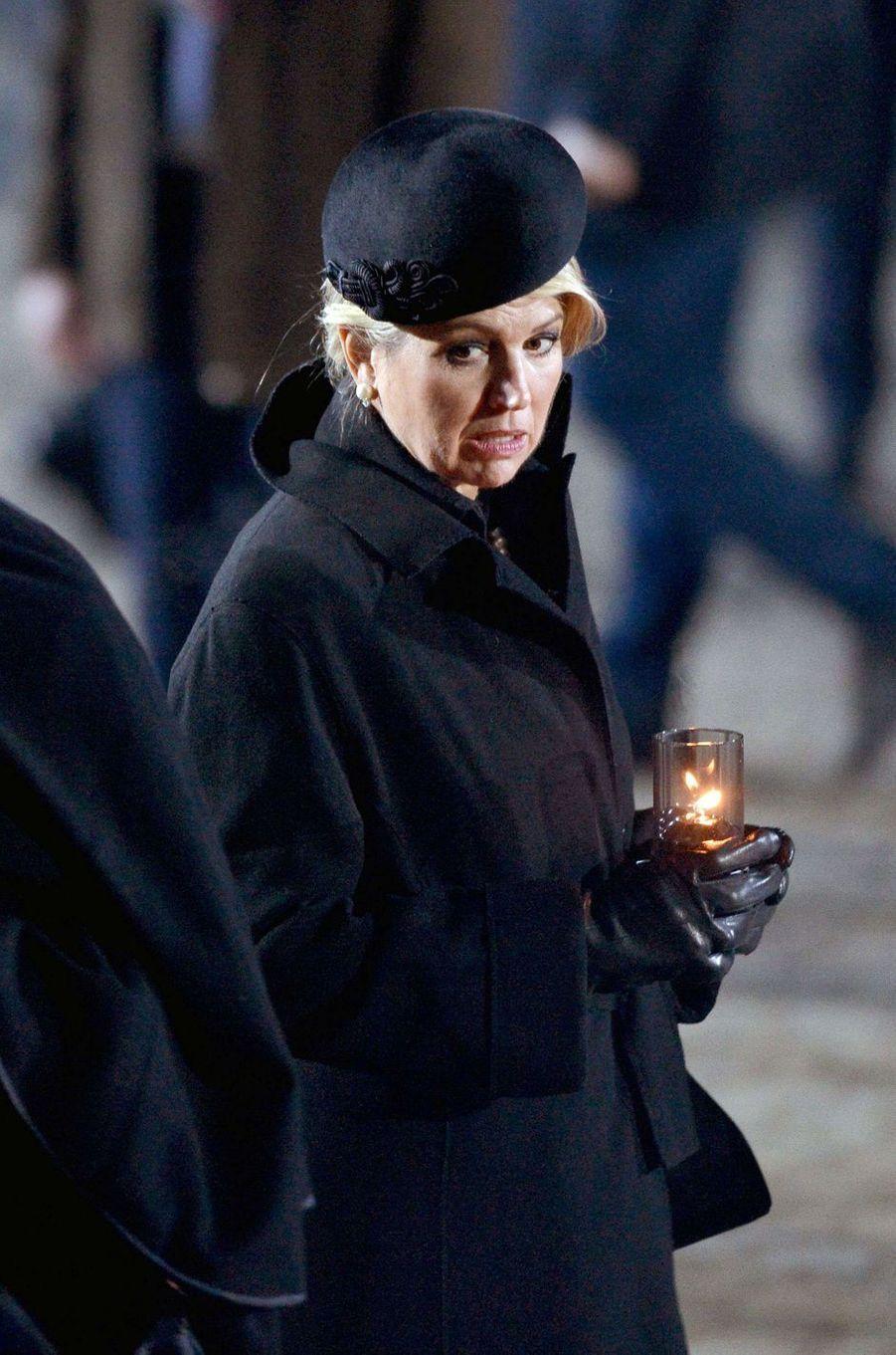 La reine Maxima des Pays-Bas à Auschwitz-Birkenau, le 27 janvier 2020