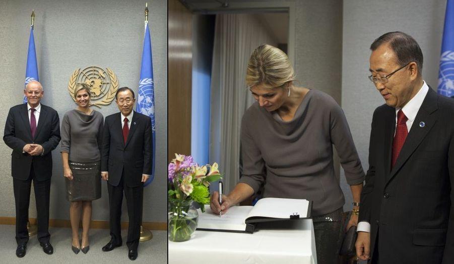 Maxima et Ban Ki-moon