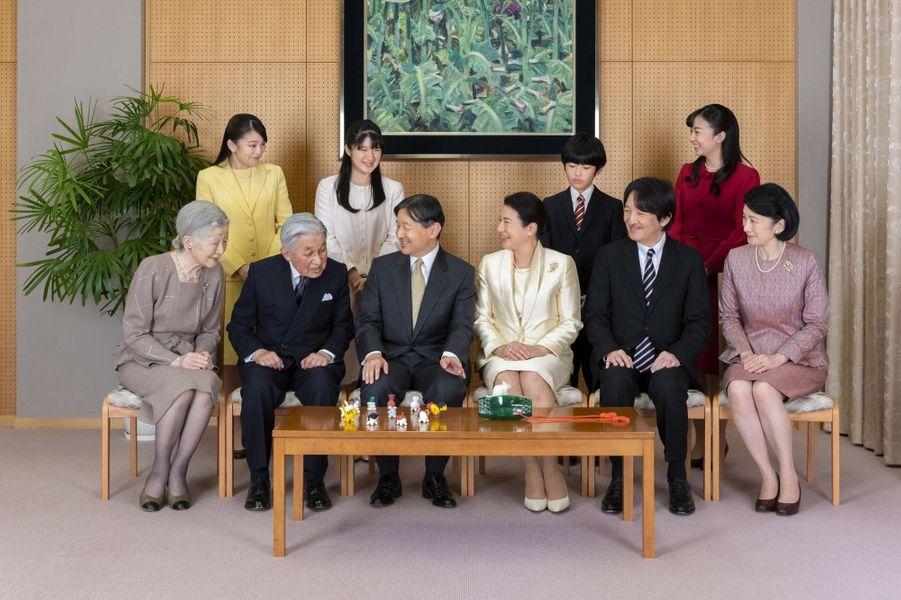 L'empereur Naruhito et l'impératrice Masako du Japon avec leur famille, le 12 décembre 2019 à Tokyo. Photo diffusée le 1er janvier 2020
