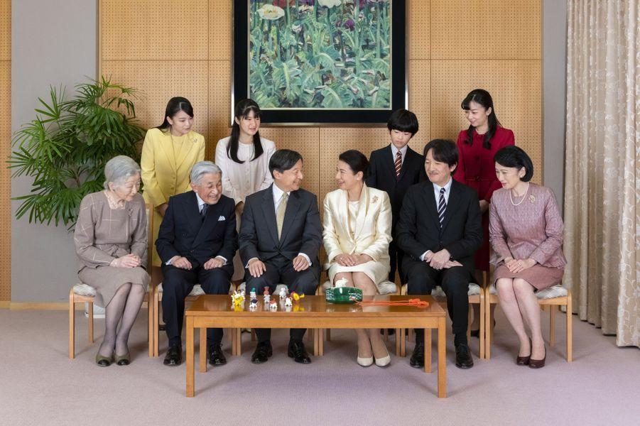 L'empereur Naruhito et l'impératrice Masako du Japon avec leur famille à Tokyo, le 12 décembre 2019. Photo diffusée le 1er janvier 2020