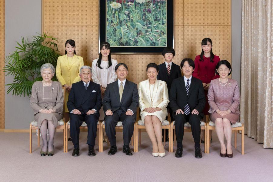 La famille impériale du Japon à Tokyo le 12 décembre 2019. Photo diffusée le 1er janvier 2020