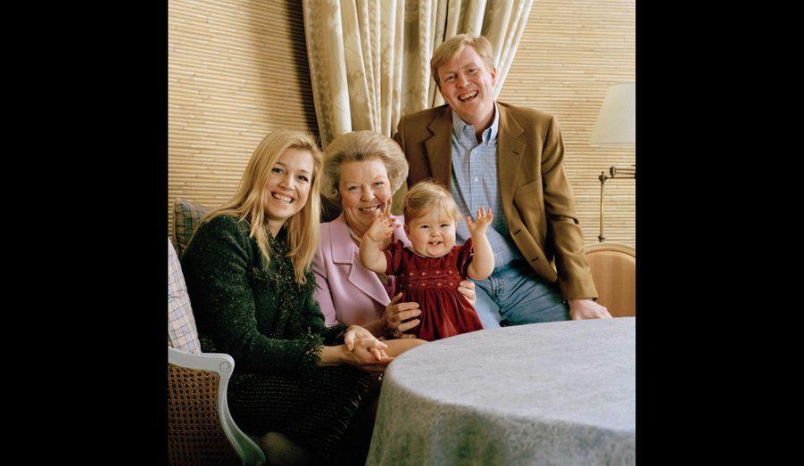 Catharina-Amalia avec sa grand-mère