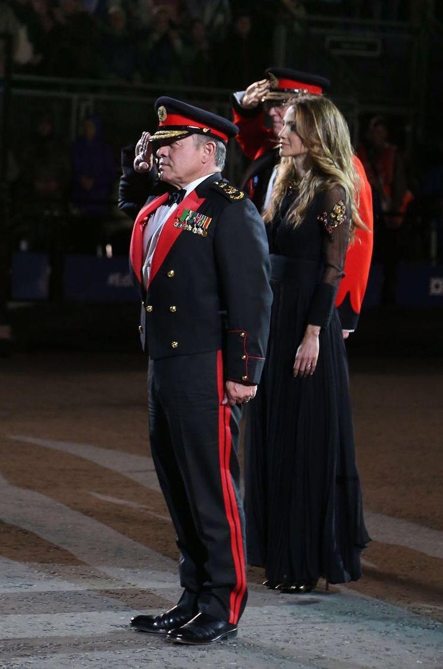 La reine Rania et le roi Abdallah II de Jordanie étaient ce vendredi 5 août dernier en Ecosse, dans le cadre du Royal Edinburgh Military Tattoo.