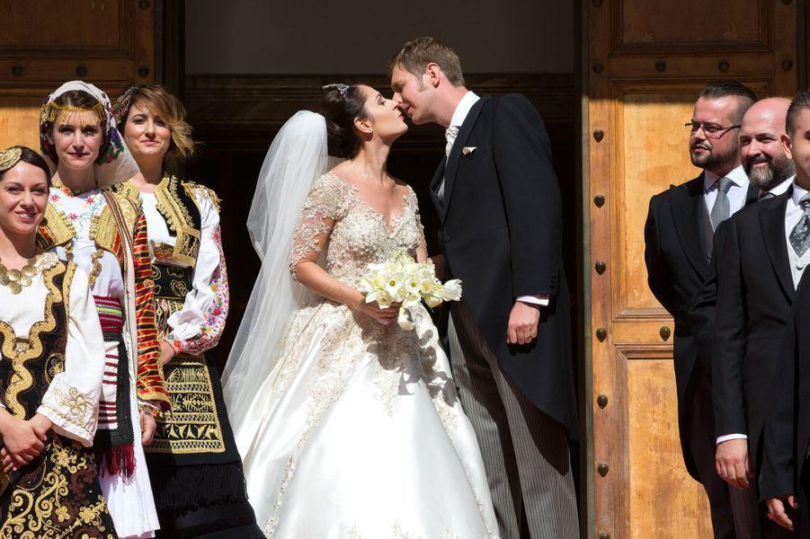 Tout le Gotha était réuni à Tirana ce samedi 8 octobre pour un jour heureux: le mariage du prince Leka II, prétendant au trône d'Albanie, et de l'actrice Elia Zaharia.