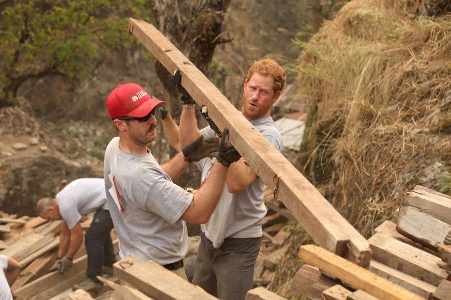 Le prince Harry avait prolongé d'une semaine son séjour au Népal pour aider à la reconstruction d'une école. Des photos ont été dévoilées en ce début avril.Chaque dimanche, le Royal Blog de Paris Match vous propose de voir ou revoir les plus belles photographies de la semaine royale.