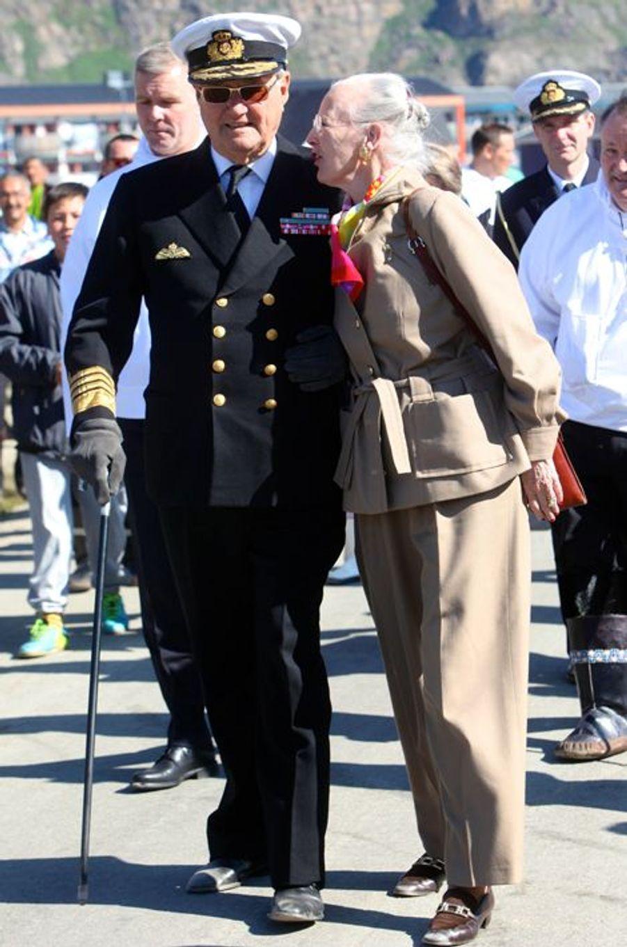 La reine Margrethe II et le prince Henrik du Danemark en tournée au Groenland, 21 et 22 juillet 2015