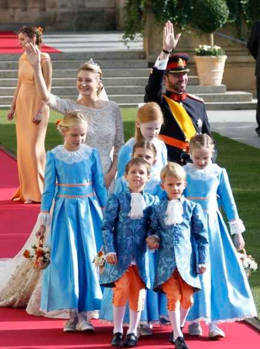 Avec les enfants d'honneur