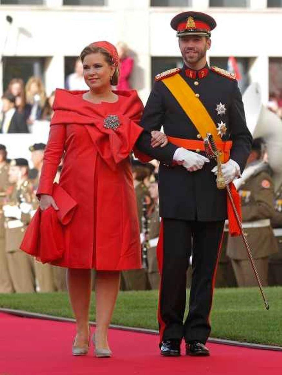 Guillaume au bras de sa mère, la Grand Duchess Maria Teresa de Luxembourg