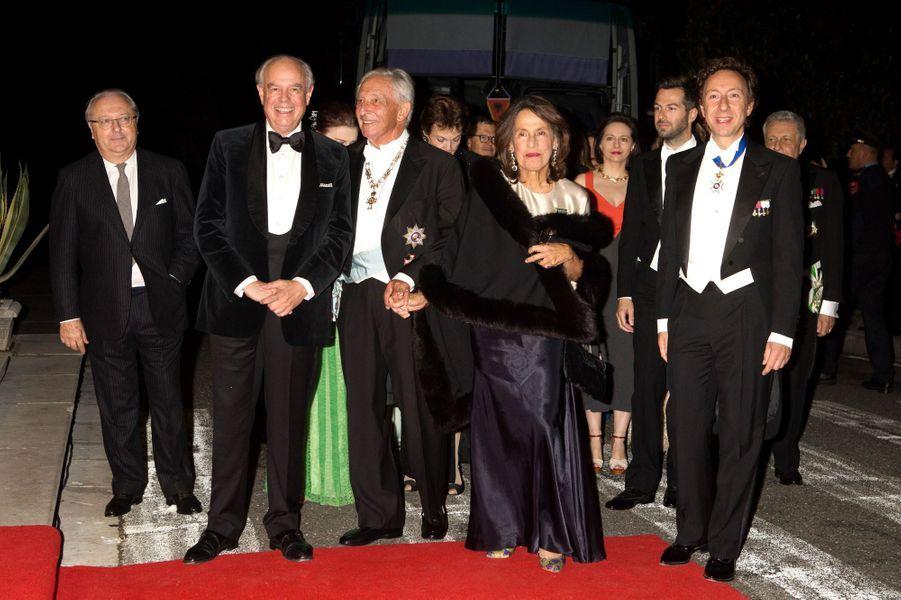 Frédéric Mitterrand, le Prince Michael et la Princesse Marina de Grèce, Stéphane Bern