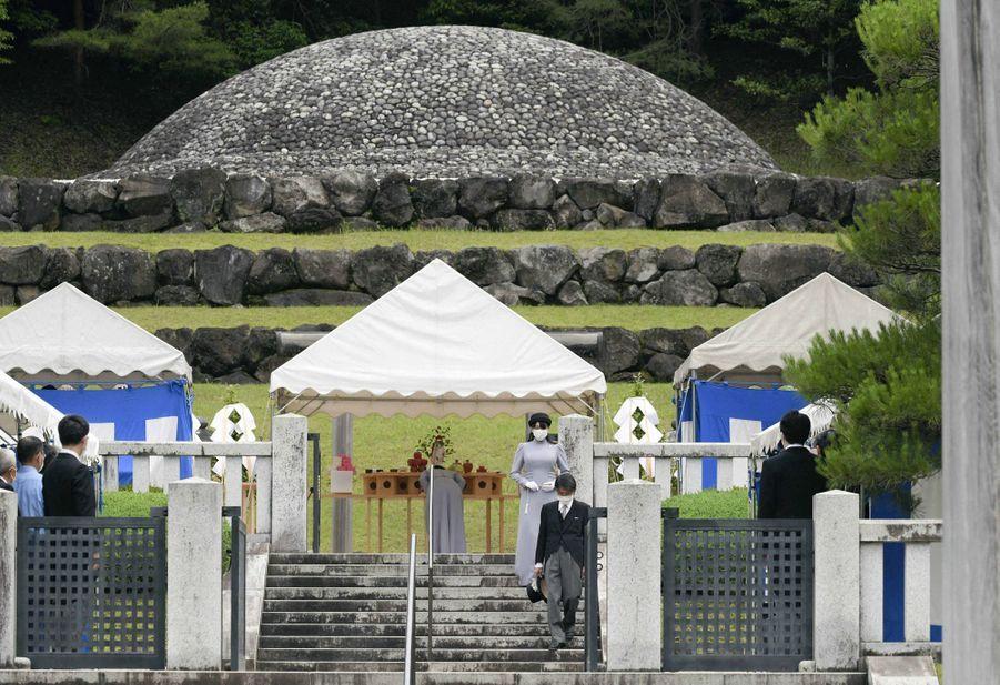 Les princesses du Japon Kako (au fond) et Mako (au premier plan), le 16 juin 2020 à Hachioji