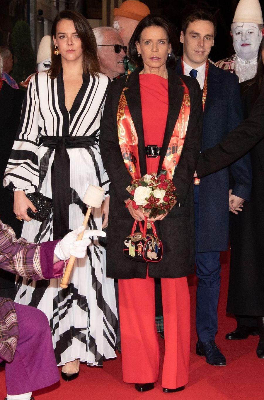 La princesse Stéphanie de Monaco à son arrivée au Festival du cirque, 16 janvier 2020