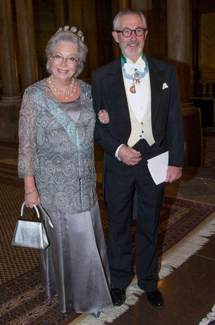 La princesse Christina de Suède et Tord Magnuson, son mari, au palais royal à Stockholm, le 11 décembre 2014