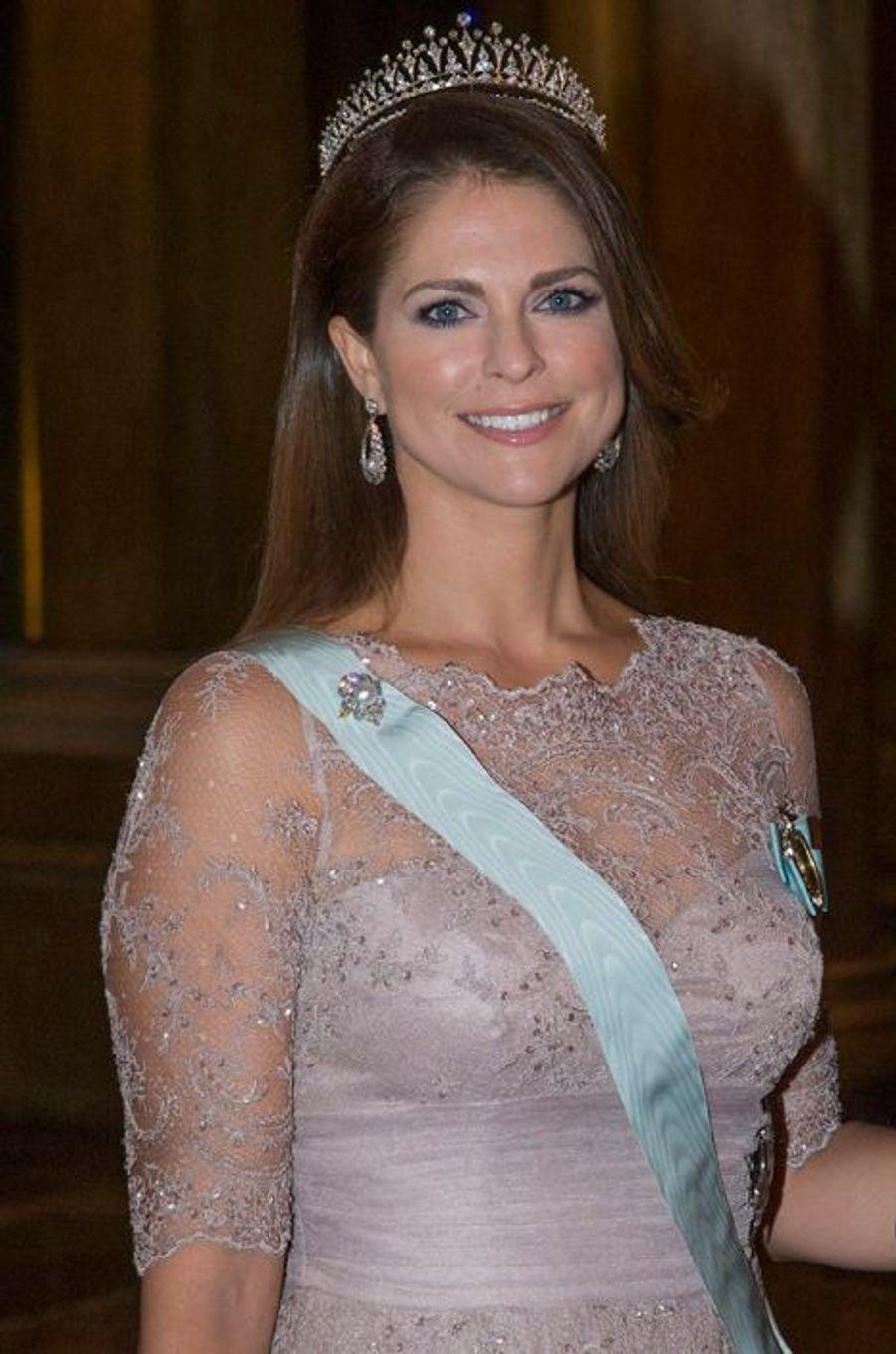 La princesse Madeleine de Suède au palais royal à Stockholm, le 11 décembre 2014