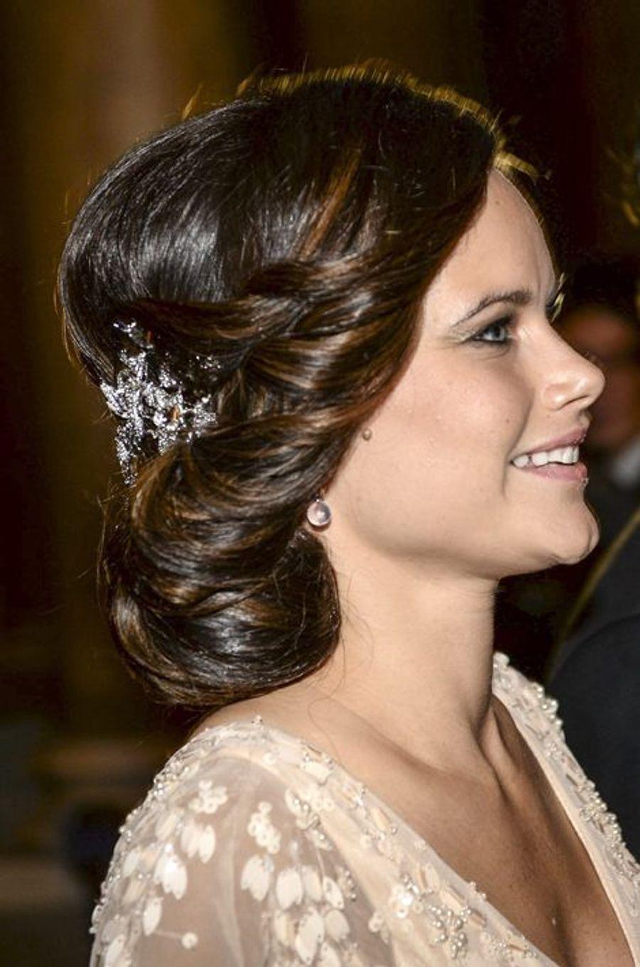 Sofia Hellqvist au palais royal à Stockholm, le 11 décembre 2014