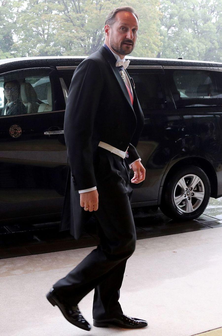 Le prince héritier Haakon de Norvège à Tokyo, le 22 octobre 2019