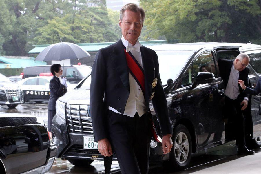Le grand-duc Henri de Luxembourg à Tokyo, le 22 octobre 2019