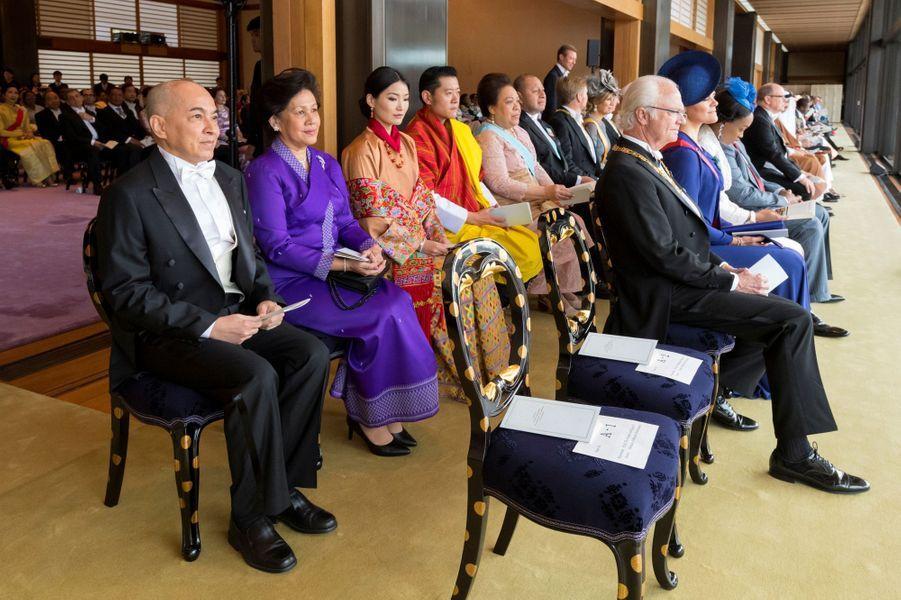 Cérémonie d'intronisation de l'empereur Naruhito du Japon à Tokyo, le 22 octobre 2019