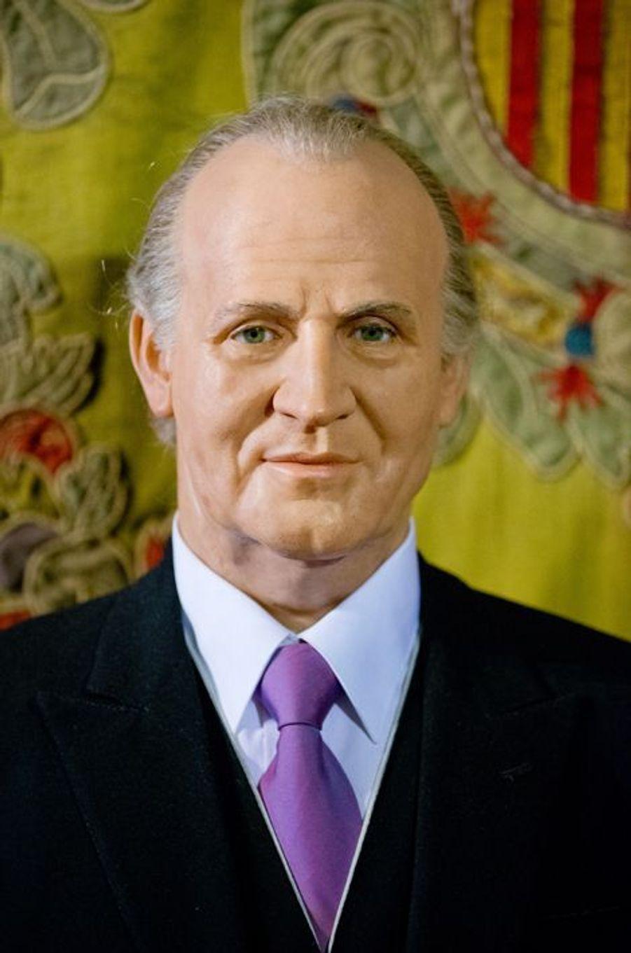 La statue de cire de l'ancien roi Juan Carlos au Museo de Cera à Madrid, le 12 octobre 2014