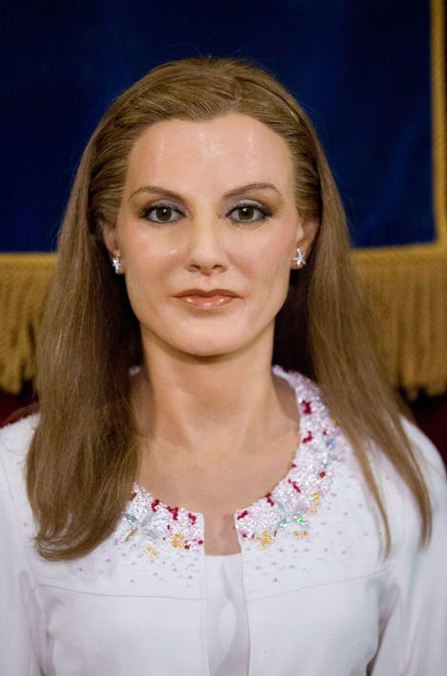 La statue de cire de la reine Letizia au Museo de Cera à Madrid, dévoilée le 12 octobre 2014