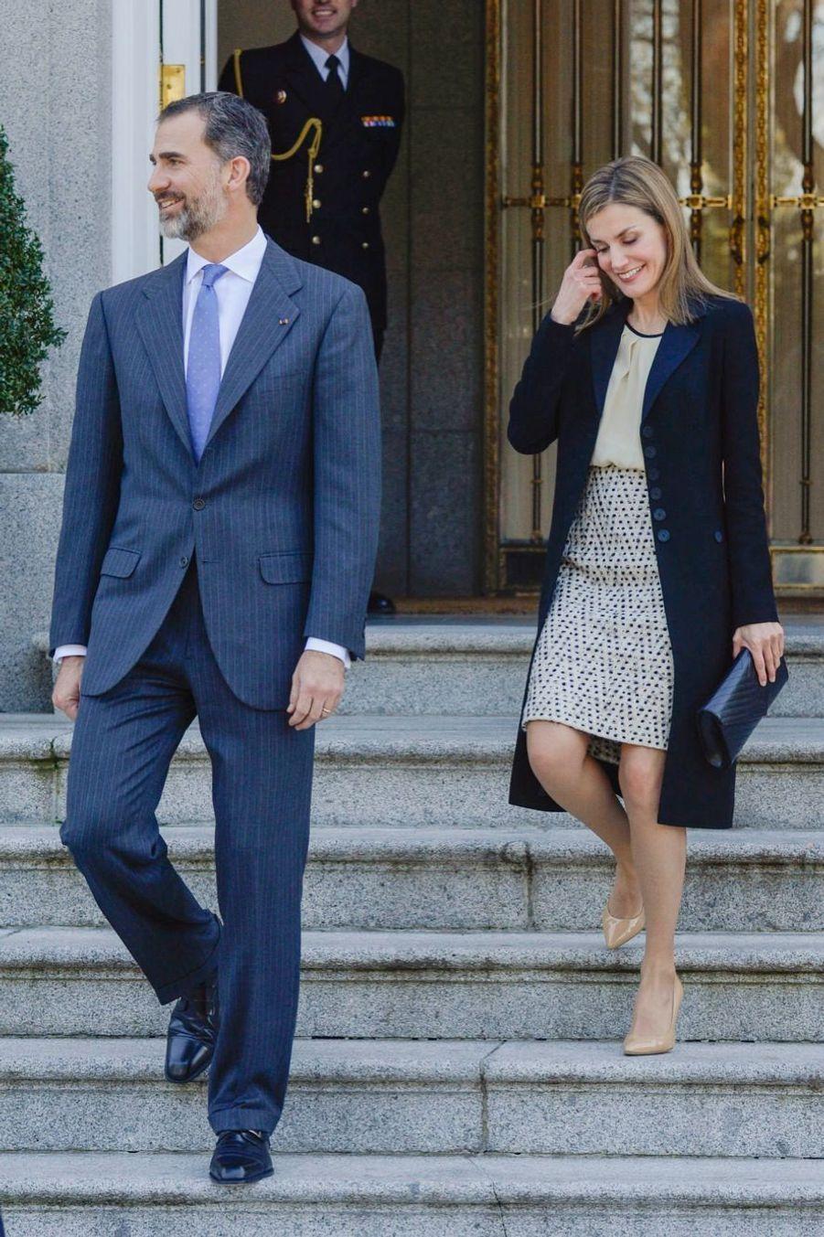 Letizia, chic et rieuse pour le couple présidentiel colombien