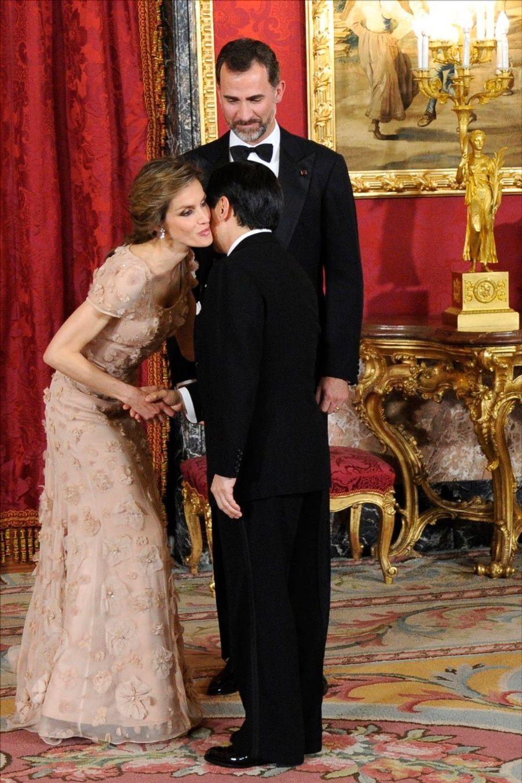 Letizia et Felipe reçoivent Naruhito