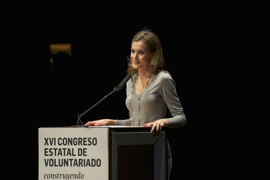 La princesse préside l'ouverture du congrès et commence avec ce discours qui se veut un appel à la générosité de tous.