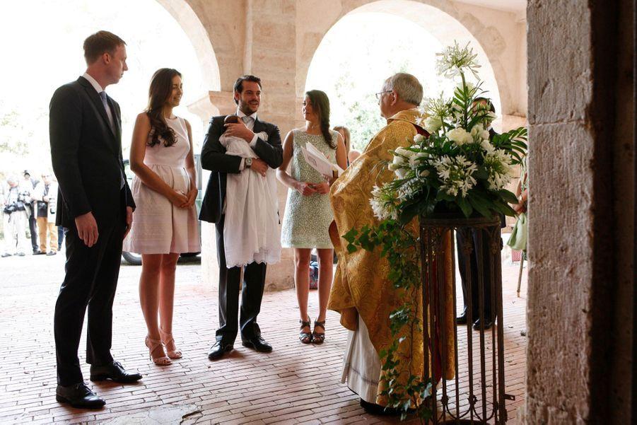 Au baptême de la petite princesse Amalia