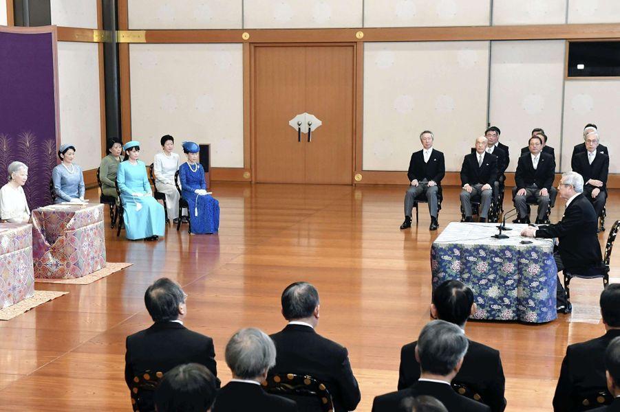 L'impératrice Michiko et les princesses Kiko et Mako à Tokyo, le 11 janvier 2017