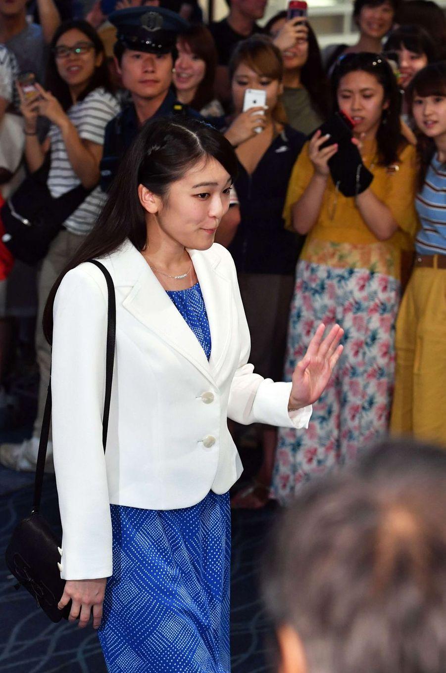 La princesse Mako du Japon à l'aéroport à Tokyo, le 17 août 2017