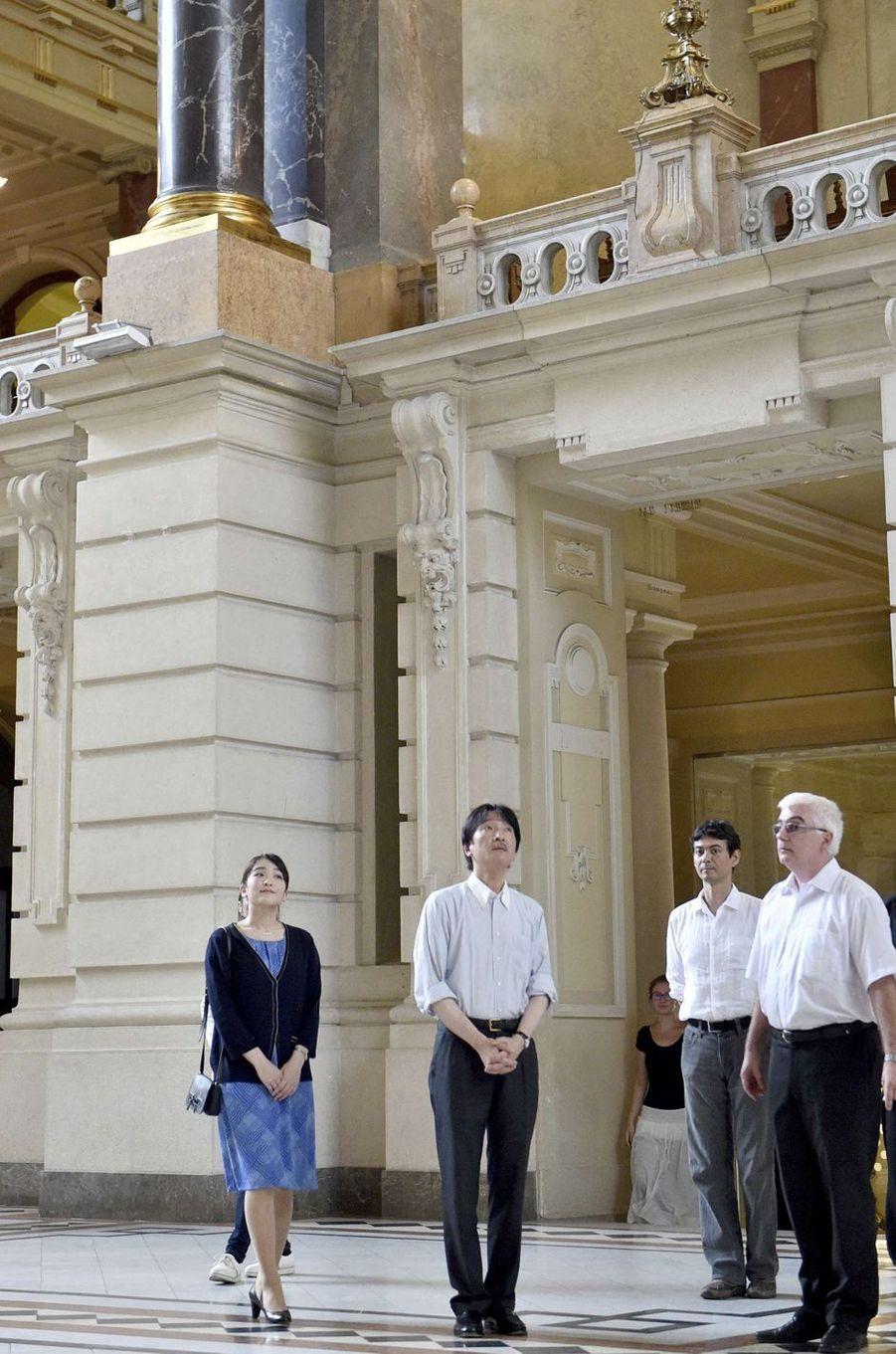 La princesse Mako et le prince Akishino du Japon au Musée ethnographique de Budapest, le 19 août 2017