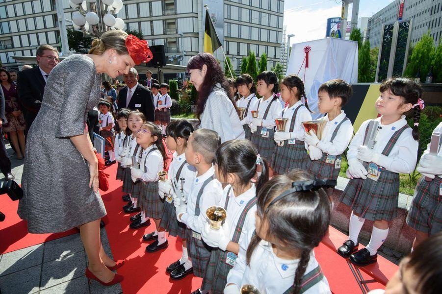La reine Mathilde de Belgique à Nagoya, le 13 octobre 2016