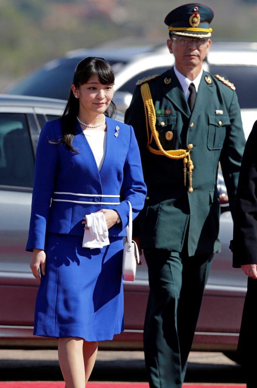 La princesse Mako du Japon à l'aéroport international de Luque, le 7 septembre 2016